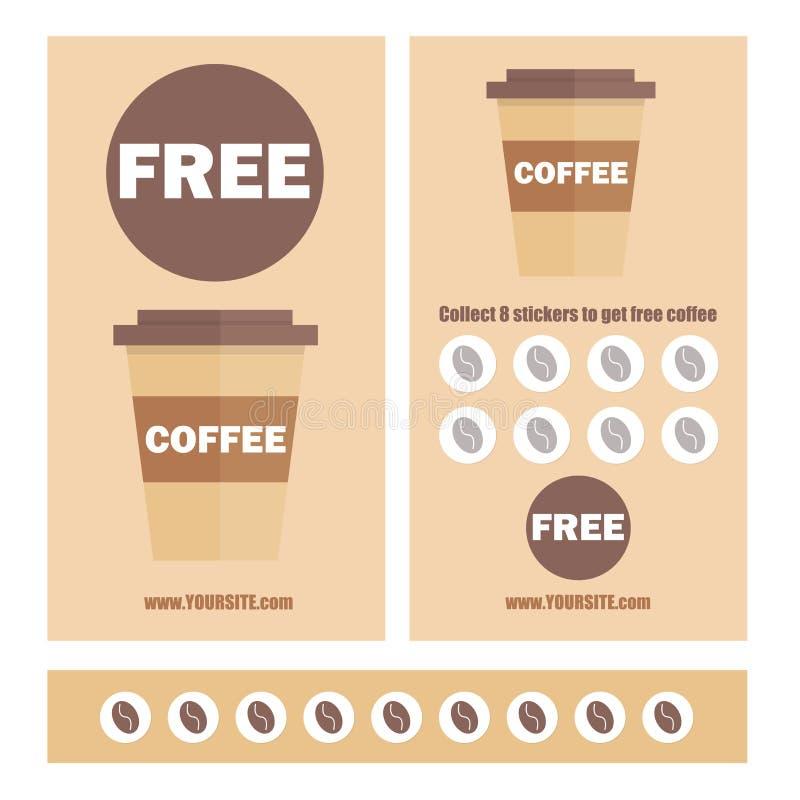 A Coffee Voucher Or Discount Coupon. Vector Flat Voucher Template ...