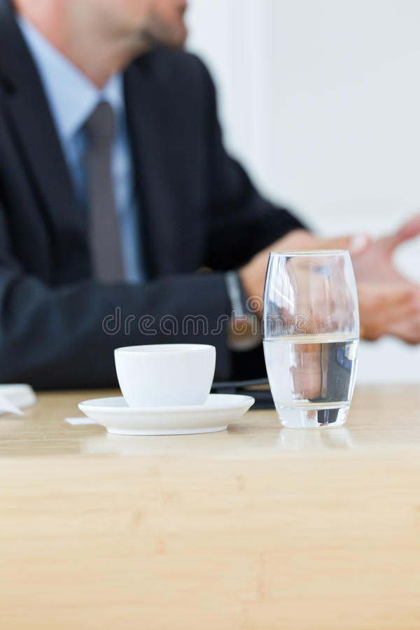 Coffee and water royalty free stock photos