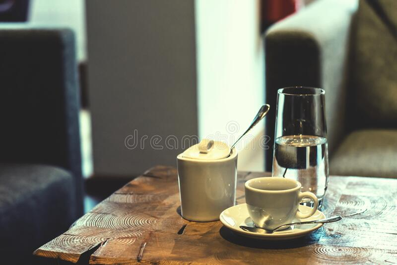Coffee and water royalty free stock image