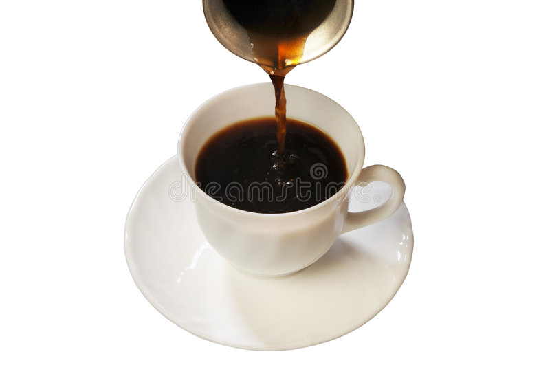 Coffee in a white cup royalty free stock images