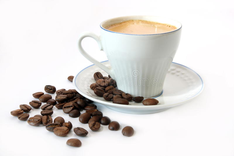 Coffee in a white mug_1 stock photography