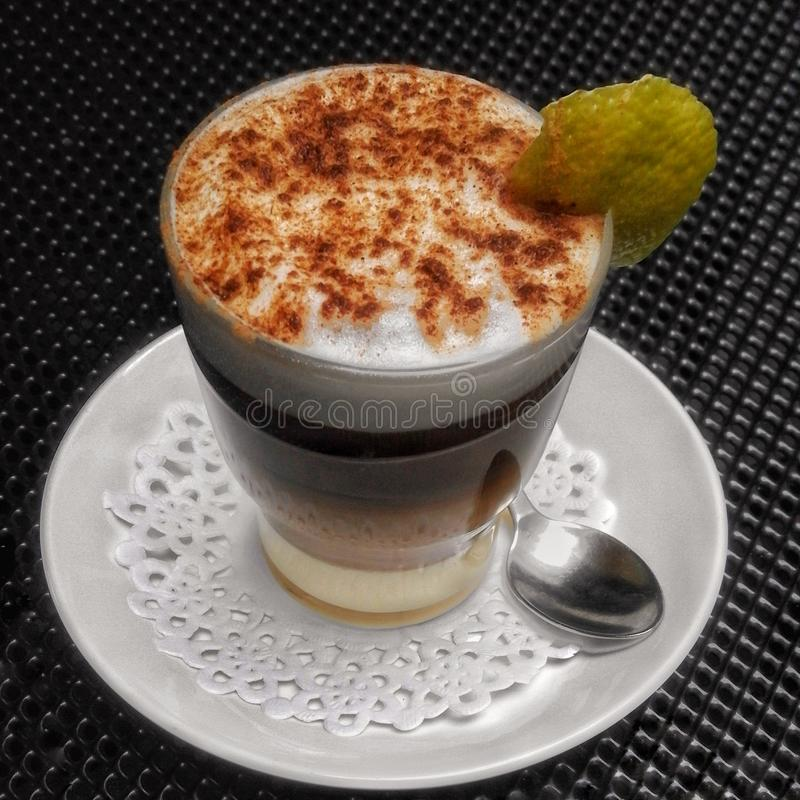 Free Coffee With Milk And Liquor Stock Image - 93281601