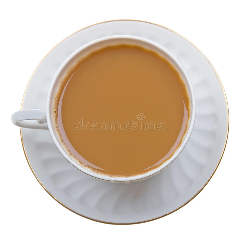 Free Coffee With Milk Cup On White Stock Image - 12758731