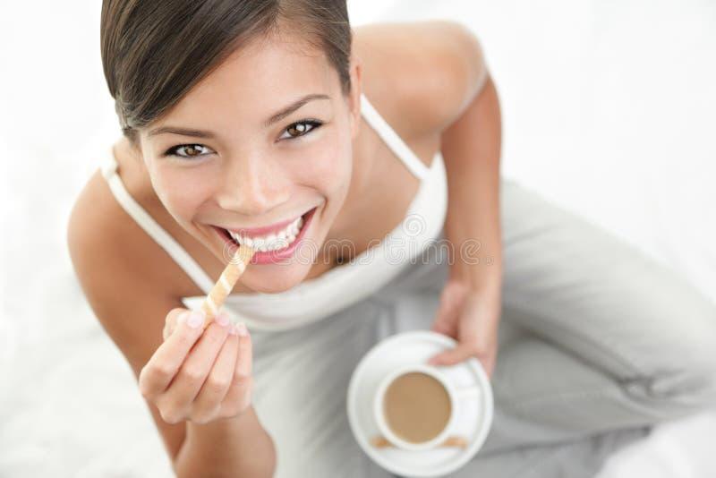 Coffee woman stock image