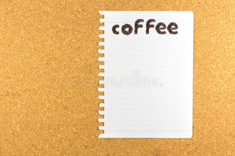 Coffee word made from coffee beans royalty free stock images