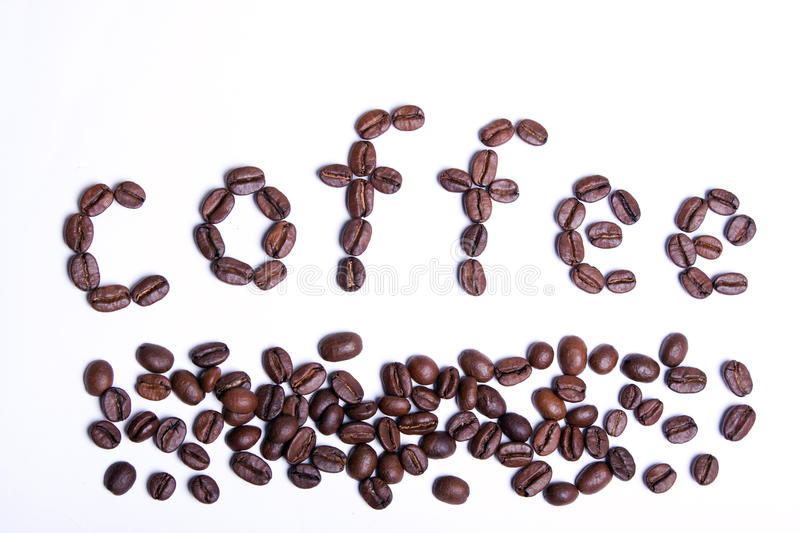 Download Coffee Word Written From Coffee Beans. Stock Photo - Image: 12859322