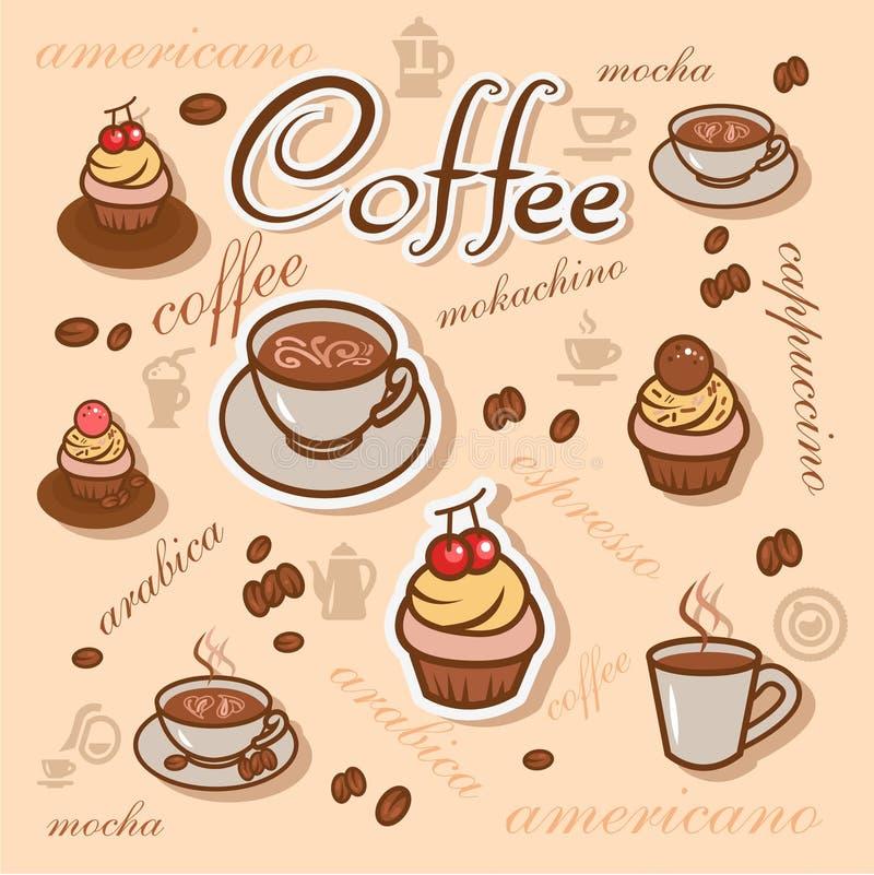 Coffeeart tło ilustracji