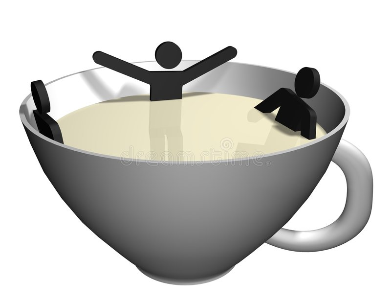coffeebreak jacuzzi royalty ilustracja