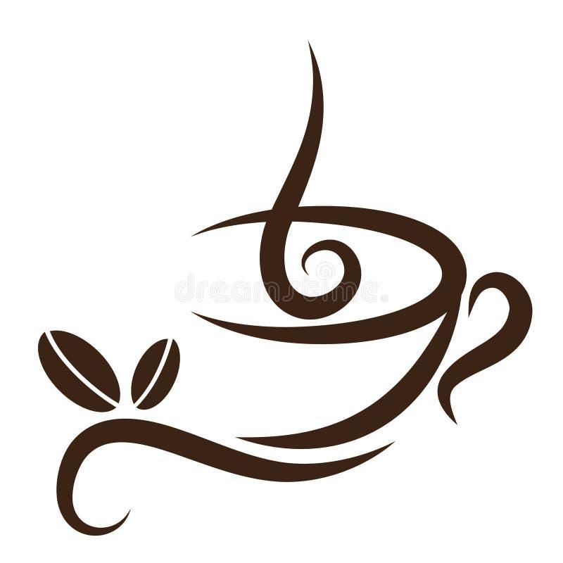 Coffeecup estilizado ilustración del vector
