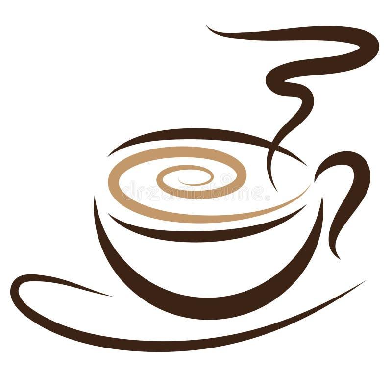 coffeecup stylizujący royalty ilustracja