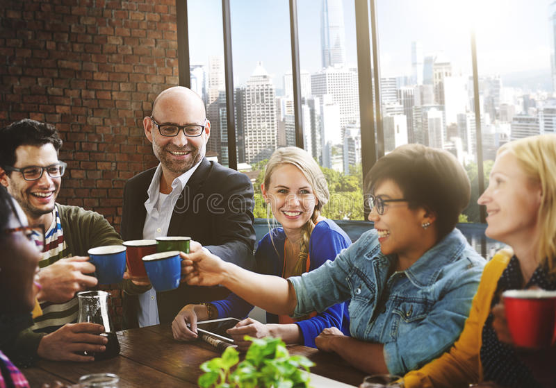Coffeee Cafe Communication Contemporary Talking Concept royalty free stock image