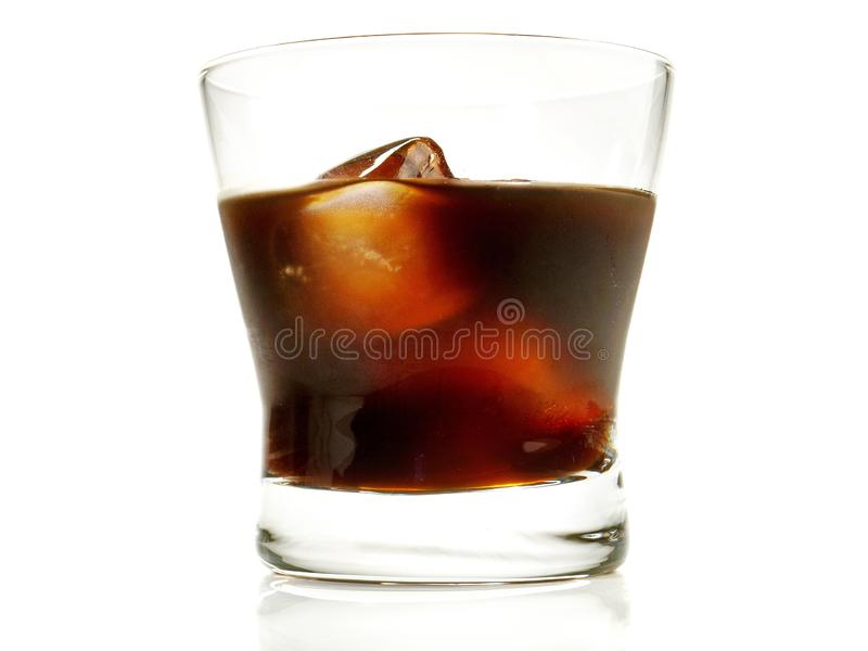Coffeee Liquor Cocktail on white Background. Coffeee Liquor Cocktail - Isolated on white Background stock photo