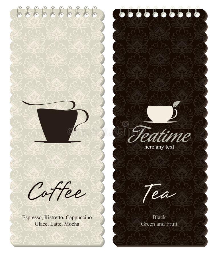 coffeehouse menu ilustracja wektor