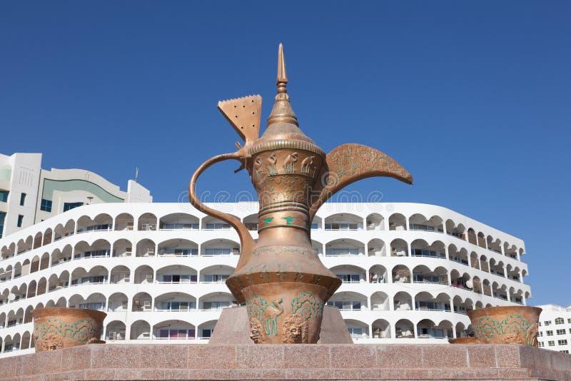 Coffeepot monument in Fujairah stock images