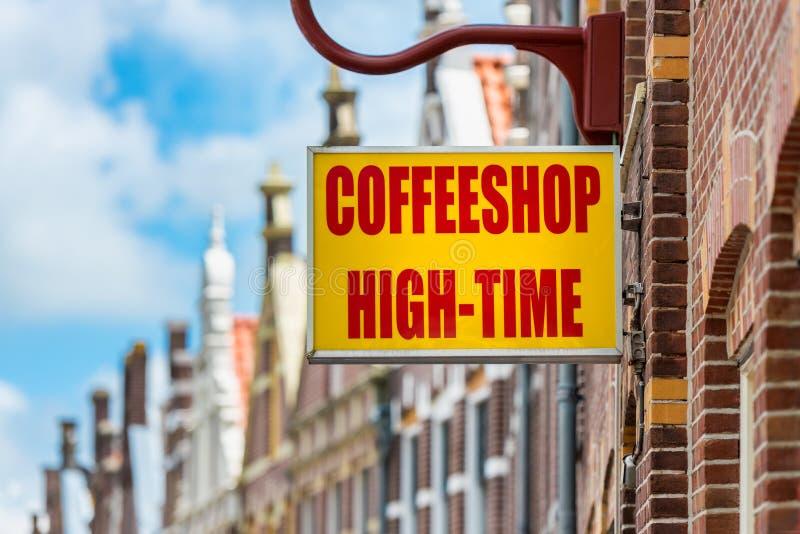 Coffeeshop in Alkmaar die Niederlande stockbild