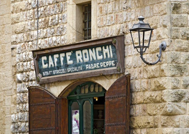Coffeeshop in Altamura royalty-vrije stock afbeeldingen