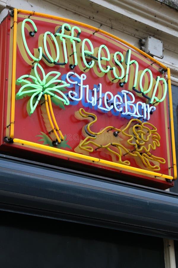 Coffeeshop em Amsterd?o fotografia de stock