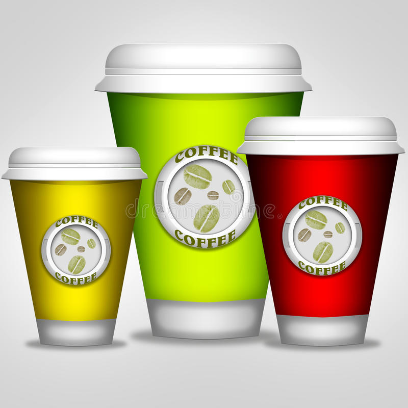 Coffey tło royalty ilustracja