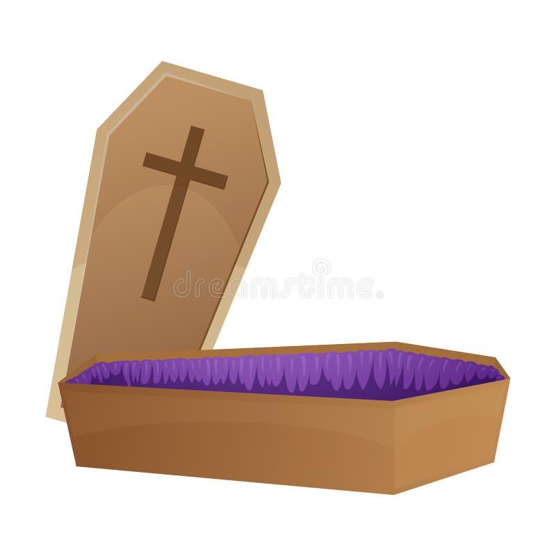 Halloween coffin illustration stock illustration