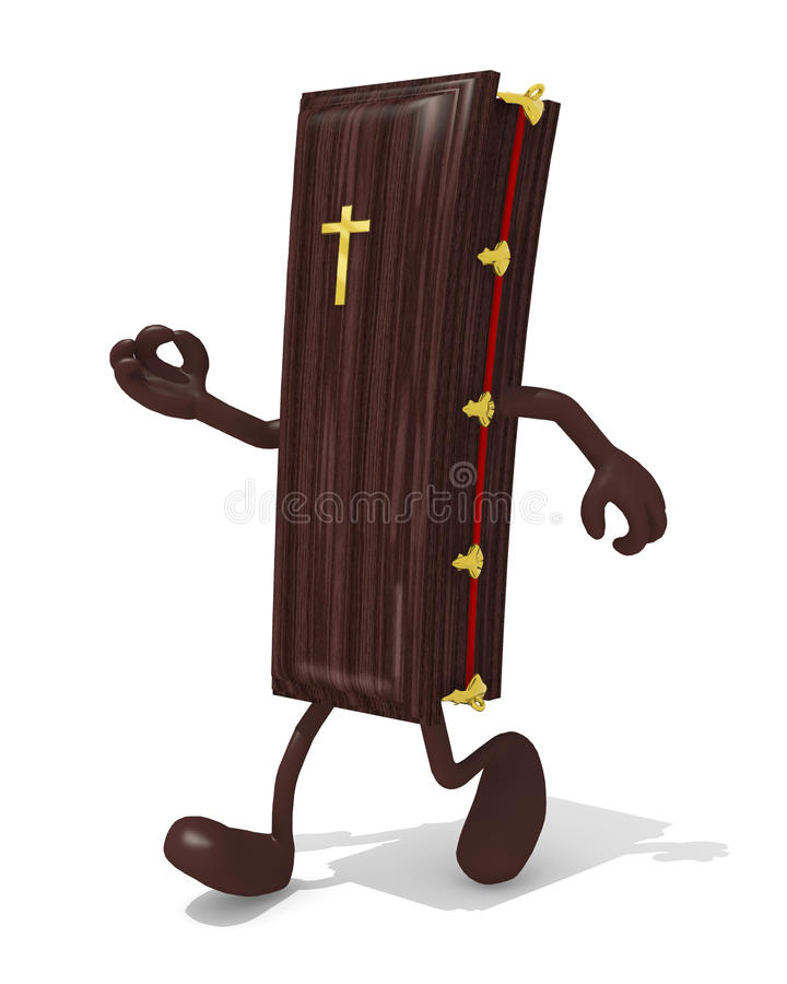 Download Coffin With Her Arms And Legs Walking Stock Illustration - Image: 74676648