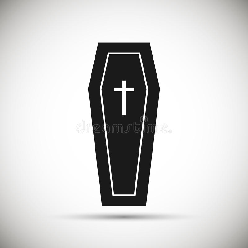 Coffin icon. stock illustration