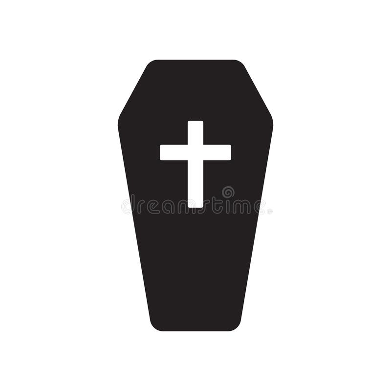 Coffin icon. Trendy Coffin logo concept on white background from vector illustration