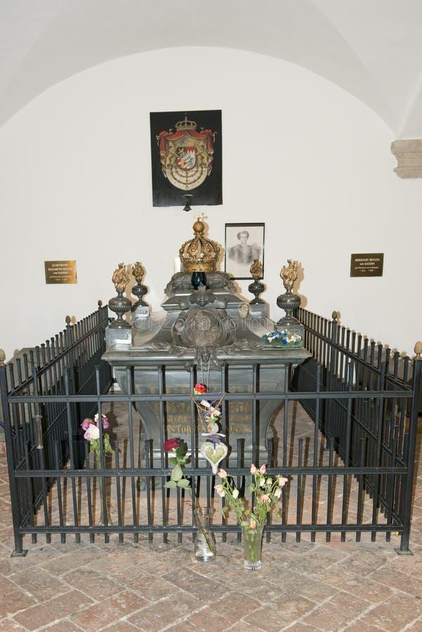 Coffin Ludwig II, King of Bavaria royalty free stock image