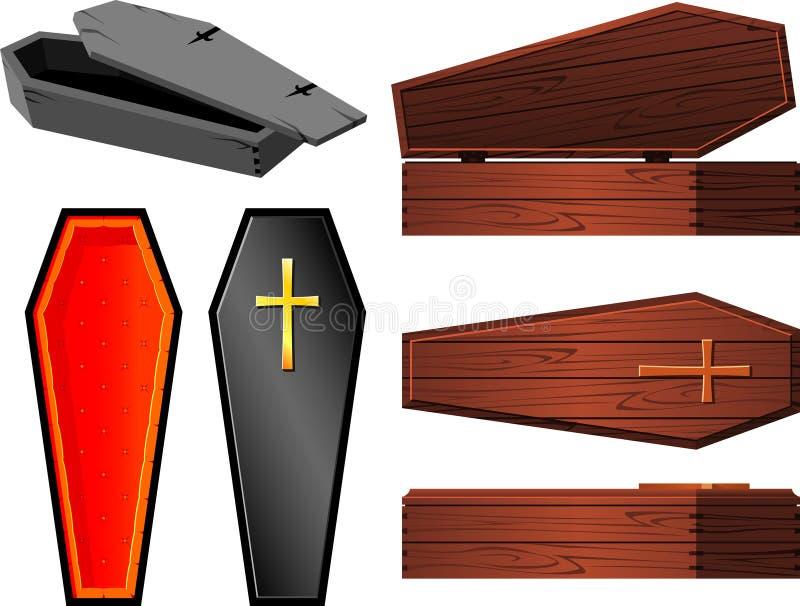 Coffin Set royalty free illustration