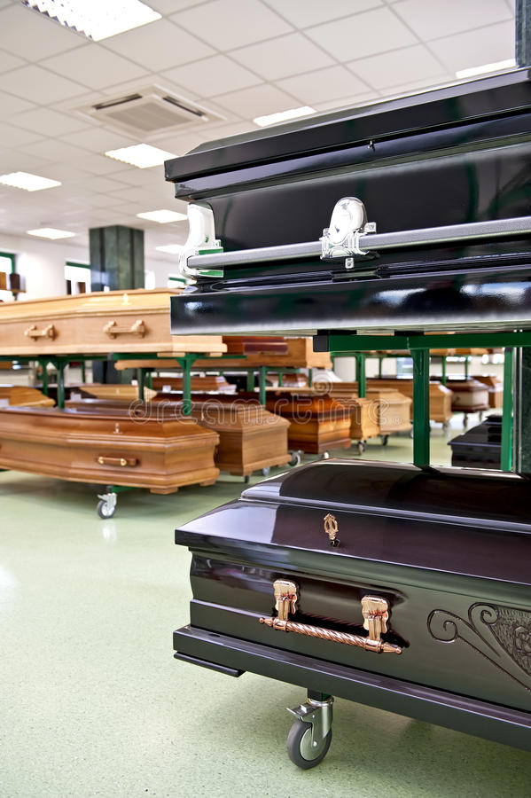 Coffin store stock images