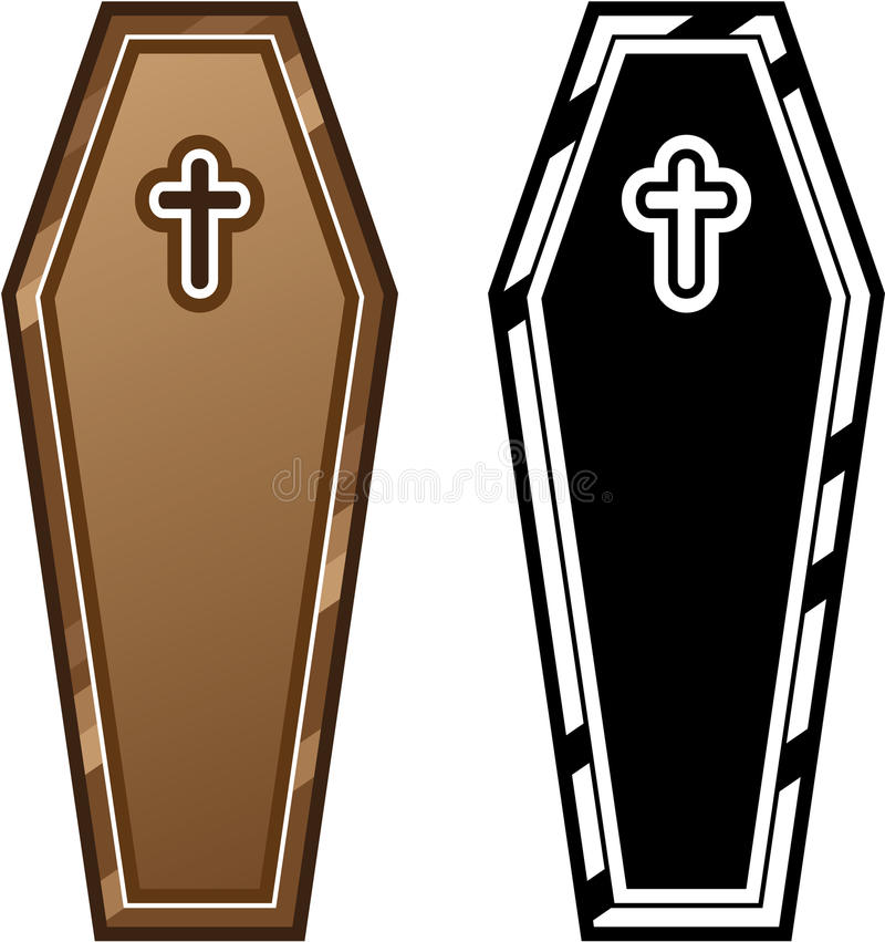 Coffins vector. Illustrations clip-art vector eps royalty free illustration