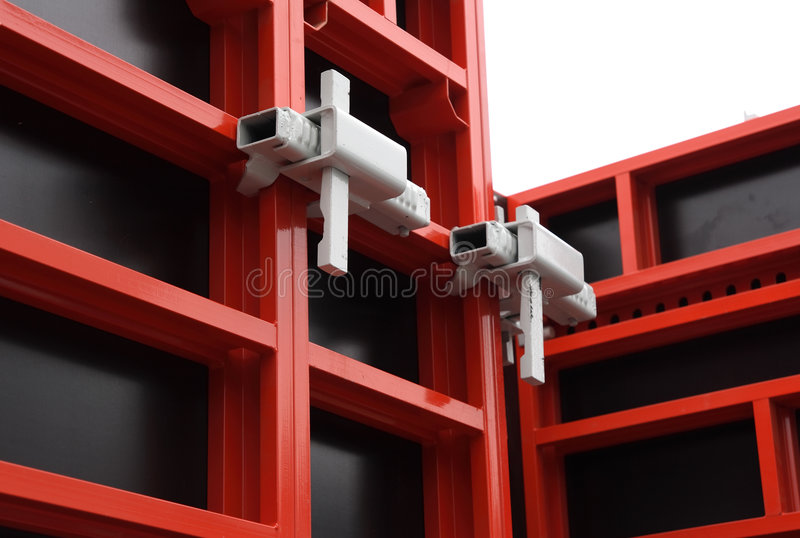 Coffrage modulaire. photographie stock