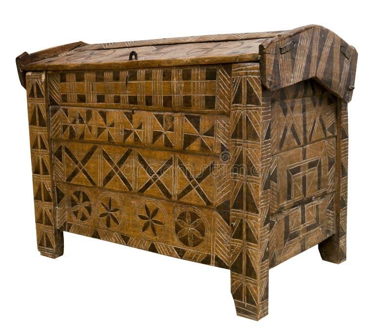 coffre antique en bois photos stock