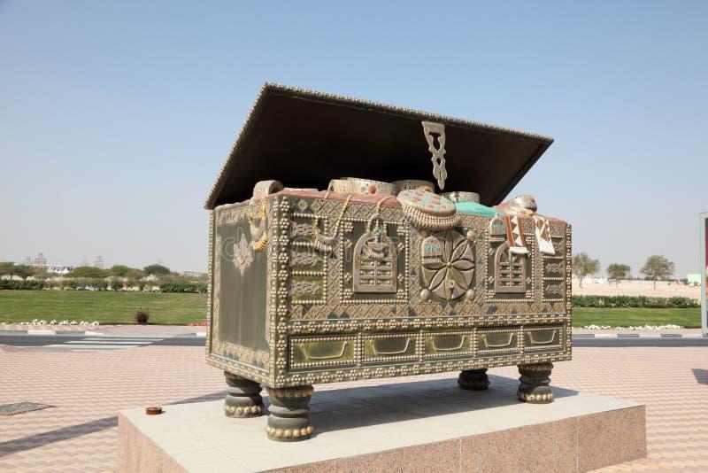 Coffre Arabe dans Doha, Qatar photographie stock libre de droits
