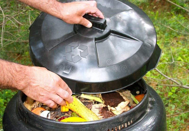 Coffre de compost photo stock