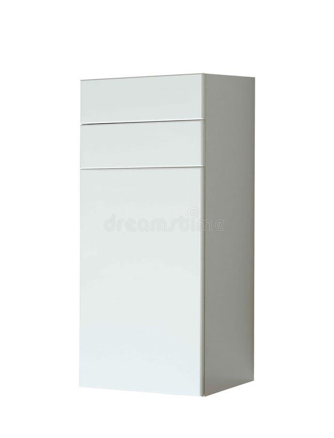 Coffre des tiroirs en bois blanc photographie stock libre de droits