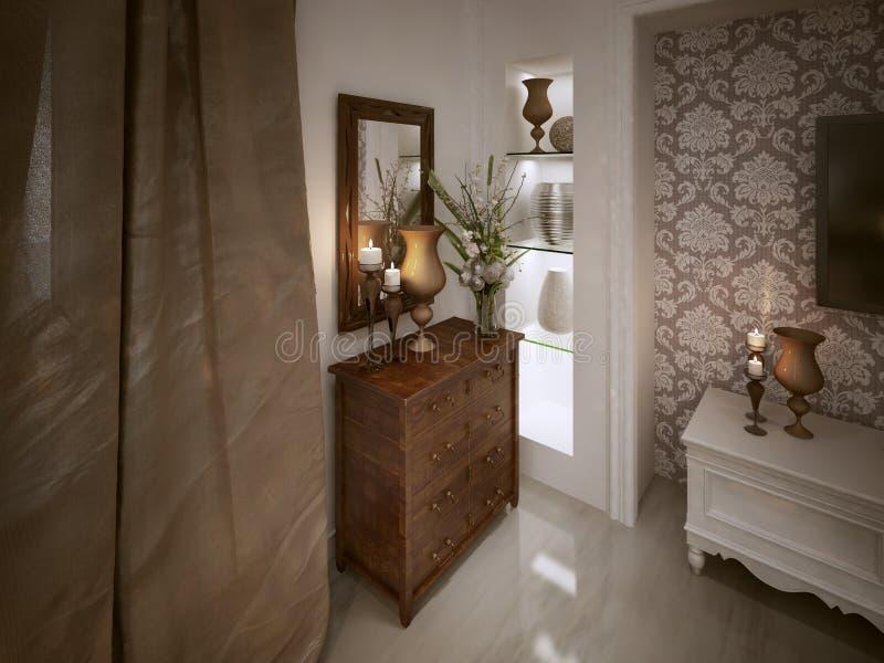 Coffre des tiroirs en bois classique photos stock