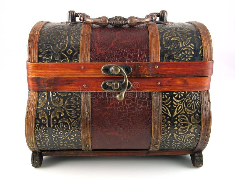 Coffre en bois antique photos libres de droits