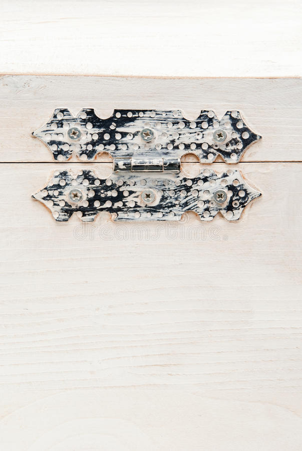 Coffre en bois blanc images stock