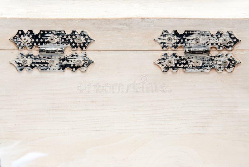 Coffre en bois blanc image stock