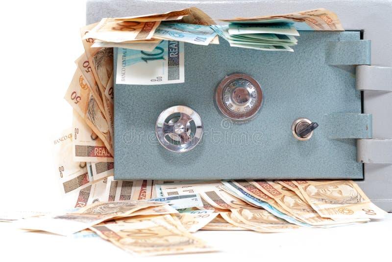 Coffre-fort avec l'argent photo libre de droits