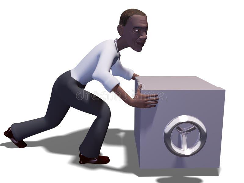 coffre-fort de l'homme 3d illustration libre de droits