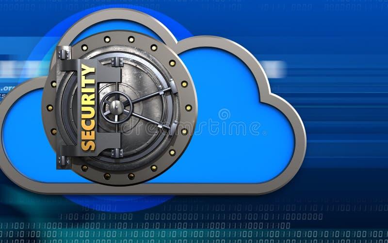 coffre-fort du nuage 3d illustration libre de droits
