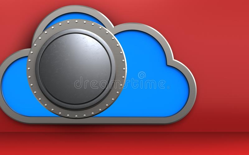 coffre-fort du nuage 3d illustration de vecteur