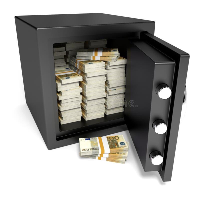 Coffre-fort et argent illustration de vecteur