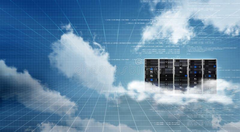 Coffret de serveur de nuage d'Internet photos libres de droits