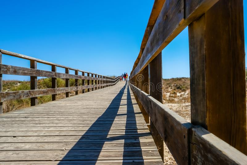 Coffs harbor boardwalk to beach.  stock images