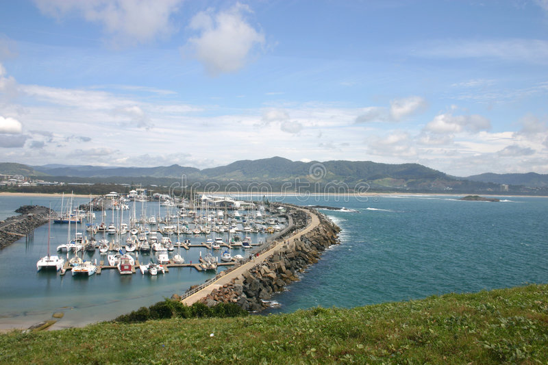 Coffs Harbour marina royalty free stock images