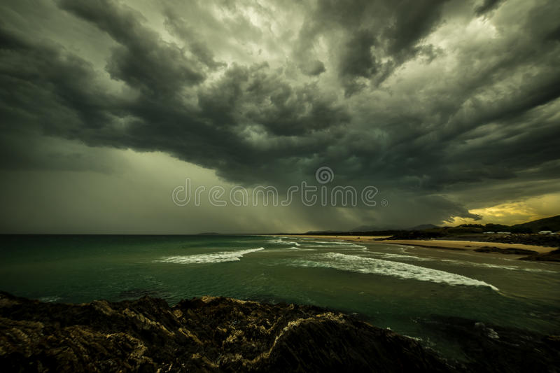 Coffs Harbour storm from Gallows royalty free stock images
