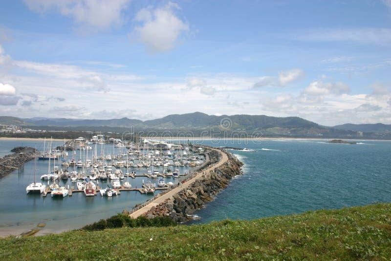 coffs marina & bezpiecznej przystani & obrazy royalty free