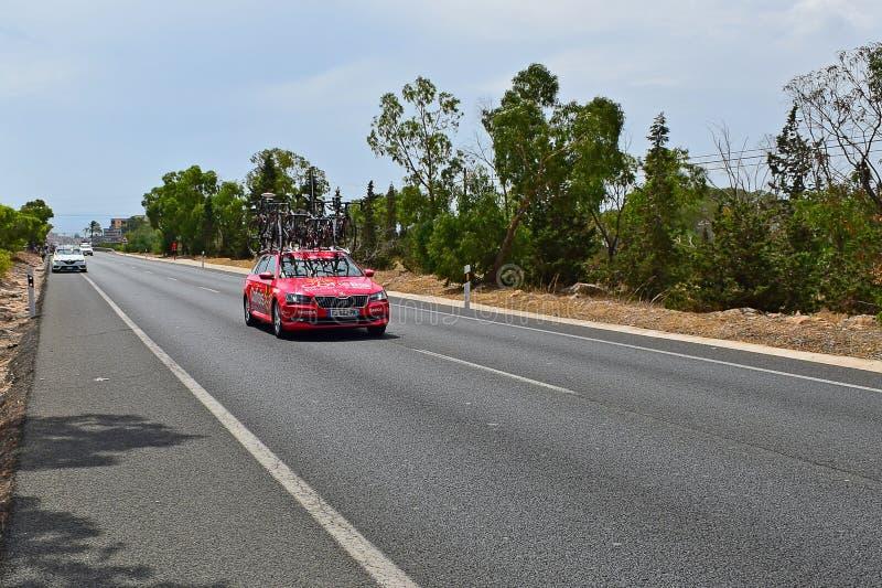 Cofidis Team Car La Vuelta España royaltyfri fotografi